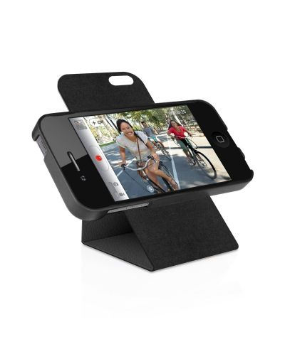 Macally Flip Case Rotatable Stand за iPhone 5 - черен - 1