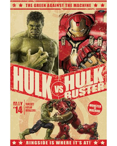 Макси плакат Pyramid - Avengers: Age Of Ultron (Hulk Vs Hulkbuster) - 1