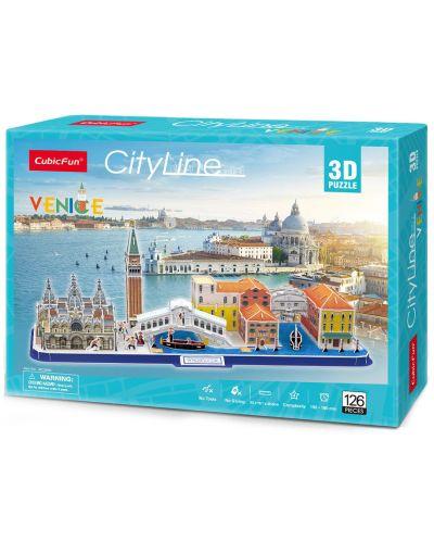3D Пъзел Cubic Fun от 126 части - City Line Venezia - 3