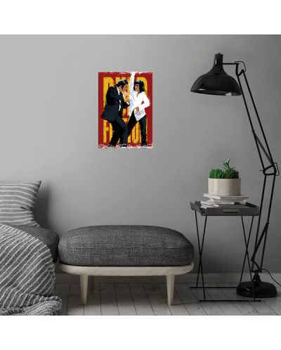 Метален постер Displate - Pulp Fiction Dancing - 3