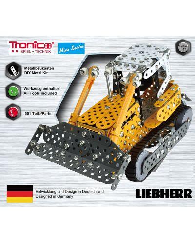 Метален конструктор Tronico - Мини серия, булдозер Liebherr - 2