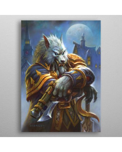 Метален постер Displate - Hearthstone: Genn Greymane - 3
