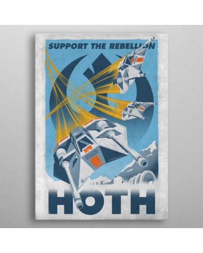 Метален постер Displate - Star Wars: Support the Rebellion - 3
