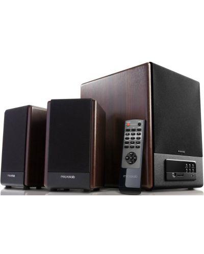 Аудио система Microlab FC530U - 2.1, кафява/черна - 1