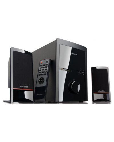 Аудио система Microlab M-700 U - 2.1, USB/SD, FM Radio с дистанционно - 1