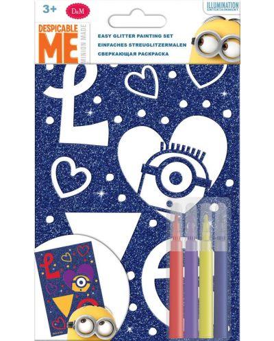Творчески комплект Revontuli Toys Oy - Оцвети сам блестяща картина, Миньоните - 1