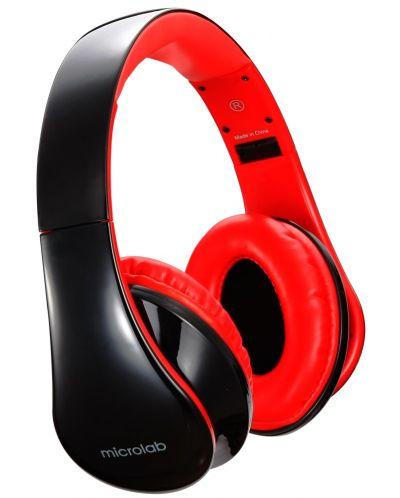 Слушалки с микрофон Microlab K360 - черни/червени - 3