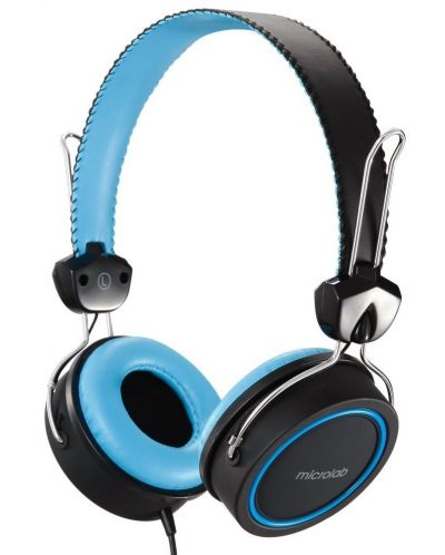 Слушалки Microlab K300 - черни/сини - 1