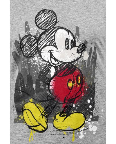 Тениска Micky Mouse - Tap, сива, размер S - 3
