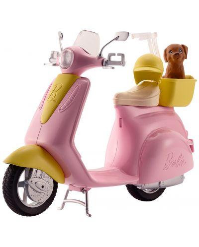 Игрален комплект Mattel Barbie - Мотопед с кученце - 1