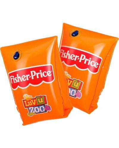 Надуваеми раменки Fisher Price - Оранжеви, 18 x 18 cm - 1