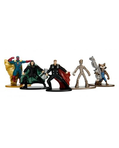 Комплект фигури Nano Metalfigs Marvel Avengers - 5 броя - 3