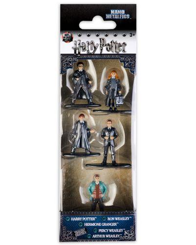 Комплект фигури Nano Metalfigs Harry Potter - 5 броя - 1
