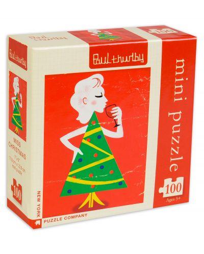 Мини пъзел New York Puzzle от 100 части - Госпожица Коледа - 1