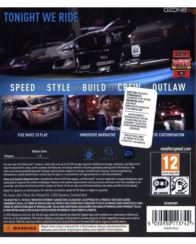 need for speed 2015 xbox one vgx10000126. Black Bedroom Furniture Sets. Home Design Ideas