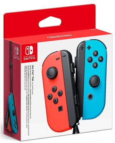 Nintendo Switch Joy-Con (комплект контролери) синьо/червено - 1