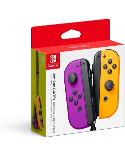 Nintendo Switch Joy-Con (комплект контролери) лилаво/оранжево - 1