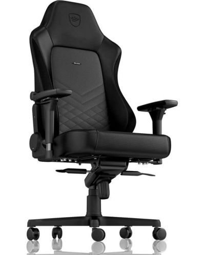 Гейминг стол noblechairs HERO - естествена кожа, черен - 5