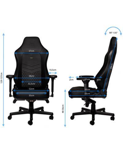 Гейминг стол noblechairs HERO - естествена кожа, черен - 2