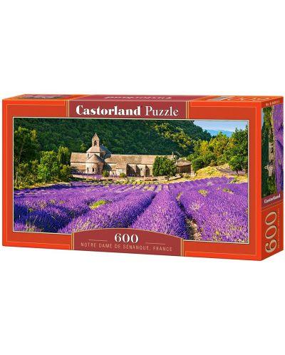 Панорамен пъзел Castorland от 600 части - Абатството Нотр Дам в Сенанк, Франция - 1