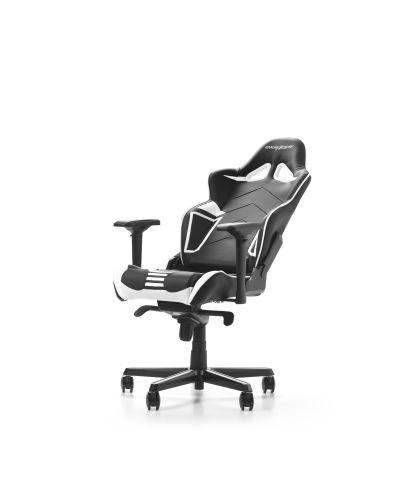 Гейминг стол DXRacer OH/RV131/NW - серия RACING V2, черен/бял - 4