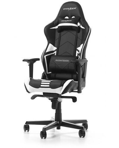 Гейминг стол DXRacer OH/RV131/NW - серия RACING V2, черен/бял - 1