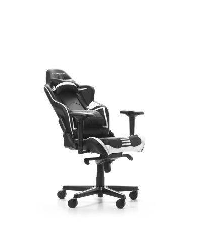 Гейминг стол DXRacer OH/RV131/NW - серия RACING V2, черен/бял - 3