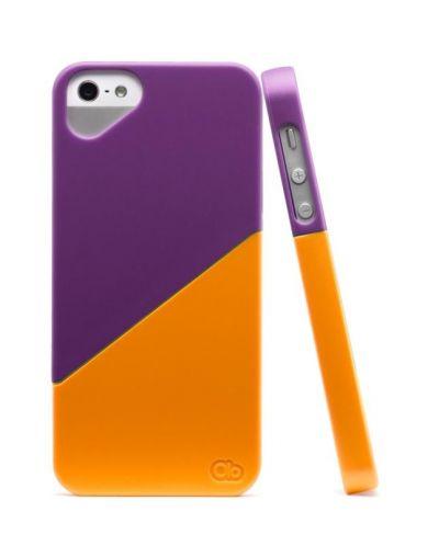 Olo Duet Snap On Case за iPhone 5 -  лилаво и оранжево - 4