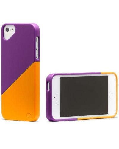 Olo Duet Snap On Case за iPhone 5 -  лилаво и оранжево - 3
