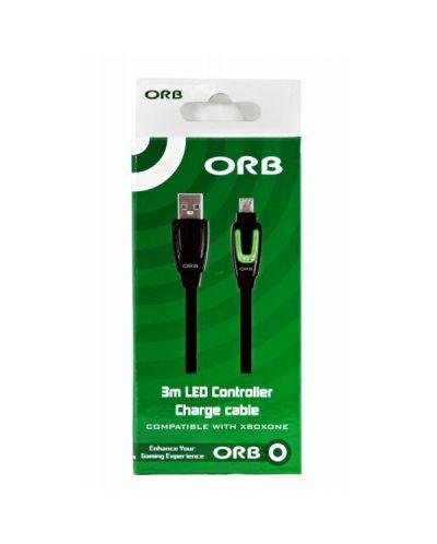 ORB кабел с LED индикатор за зареждане на Xbox One контролер - 3 метра - 2