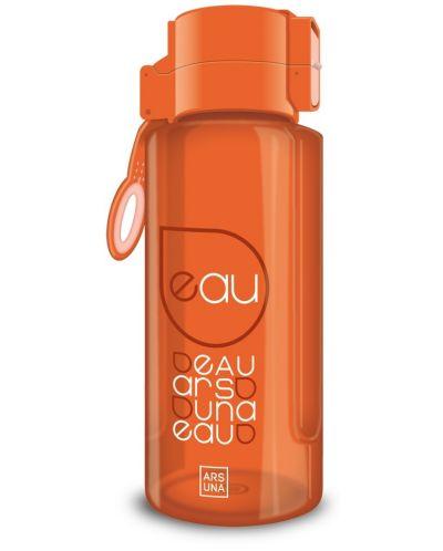 Бутилка за вода Ars Una - Оранжева, 650 ml - 1