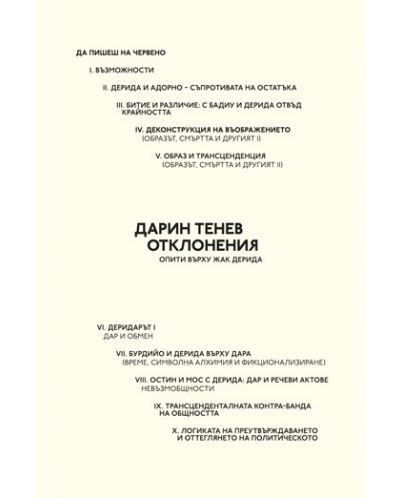 Отклонения. Опити върху Жак Дерида - 1