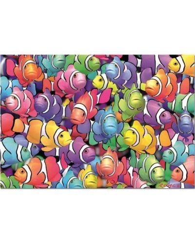 Пъзел Educa от 1000 части - Училище за риби клоуни, Ройс Б. МакКлър - 2