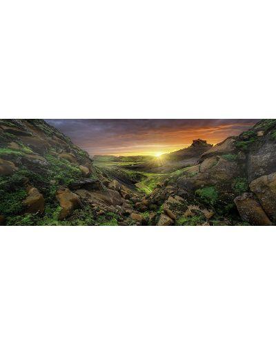 Панорамен пъзел Ravensburger от 1000 части - Слънце над Исландия - 2