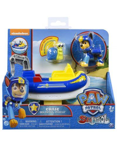 Комплект Spin Master Paw Patrol - Sea Patrol, Чейс с лодка и охлюв - 4