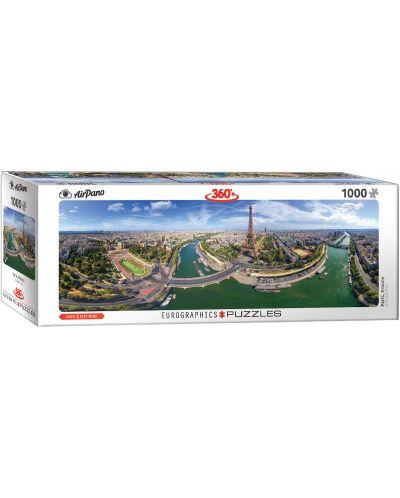 Панорамен пъзел Eurographics от 1000 части - Париж, Франция - 1