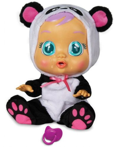Детска играчка IMC Toys Crybabies – Плачещо със сълзи бебе, Панди - 2