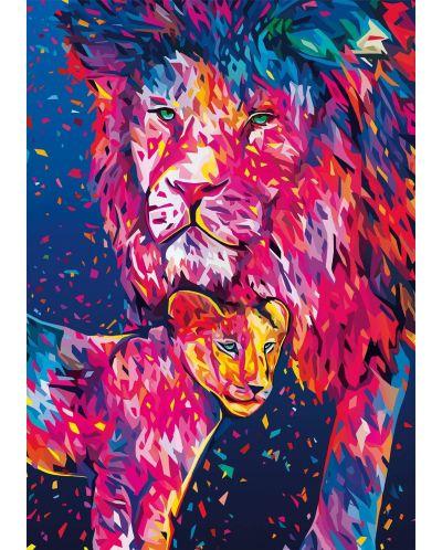 Пъзел Buffalo от 500 части - Лъвско сърце, Алесандро Паутасо - 2