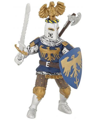 Фигурка Papo The Medieval Era – Рицар на Синия гарван - 1