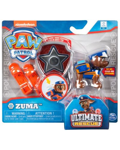 Фигура със значка Spin Master Paw Patrol - Ultimate Rescue, Зума - 3