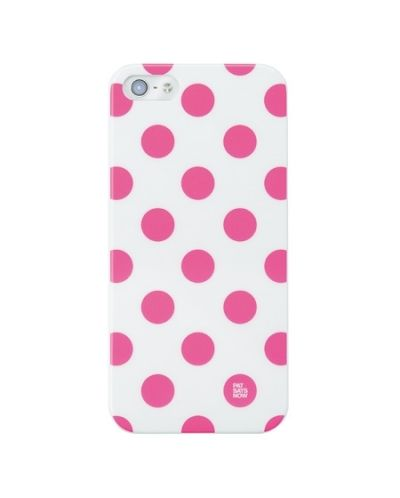 Pat Says Now Pink Polka Dot за iPhone 5 - 1