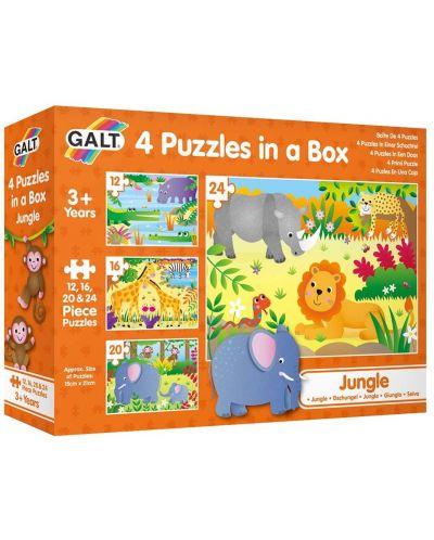 Пъзел Galt Toys 4 в 1 - Джунгла - 1