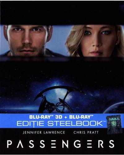 Пасажери 3D+2D (Blu-Ray) - Steelbook - 1