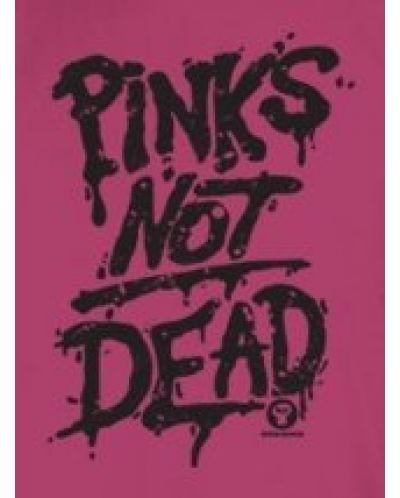Тениска RockaCoca Pink's not dead, розова, размер S - 1