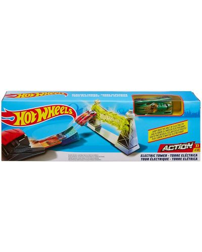 Писта с количка Hot Wheels Action - Electric Tower - 1