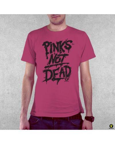 Тениска RockaCoca Pink's not dead, розова, размер S - 2