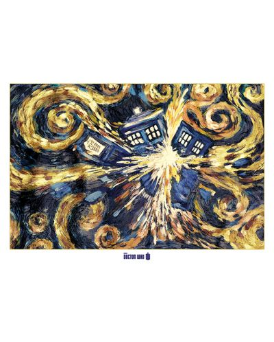 XL плакат Pyramid - Doctor Who (Exploding Tardis) - 1