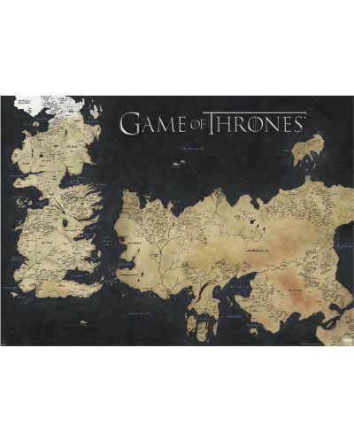 XL плакат Pyramid - Game of Thrones (Map of Westeros & Essos) - 1