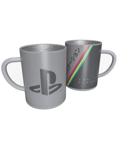 Метална чаша Numskull PlayStation - 25th Anniversary, 400 ml - 1