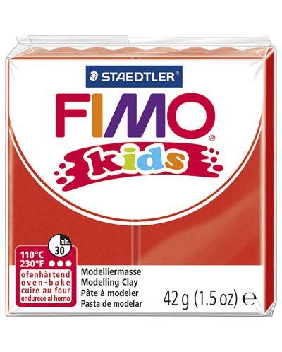 Полимерна глина Staedtler Fimo Kids - червен цвят - 1